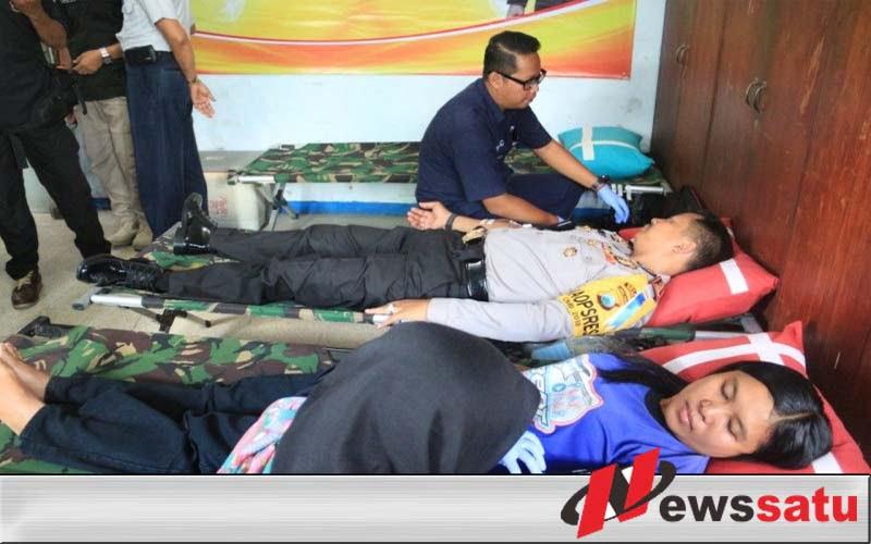 Operasi Lilin Semeru 2018, Polres Kediri Gelar Donor Darah