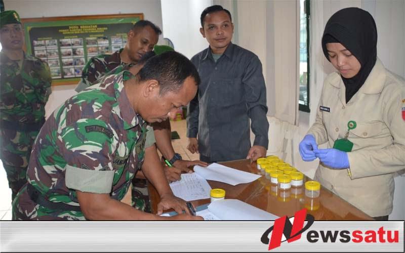 Perangi Narkoba, Prajurit Korem 084 Bhaskara Jaya Di Tes Urine