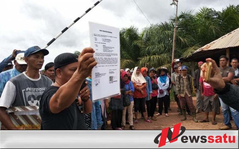 Ratusan Warga Ogan Komering Ilir Demo PT Kelantan Sakti
