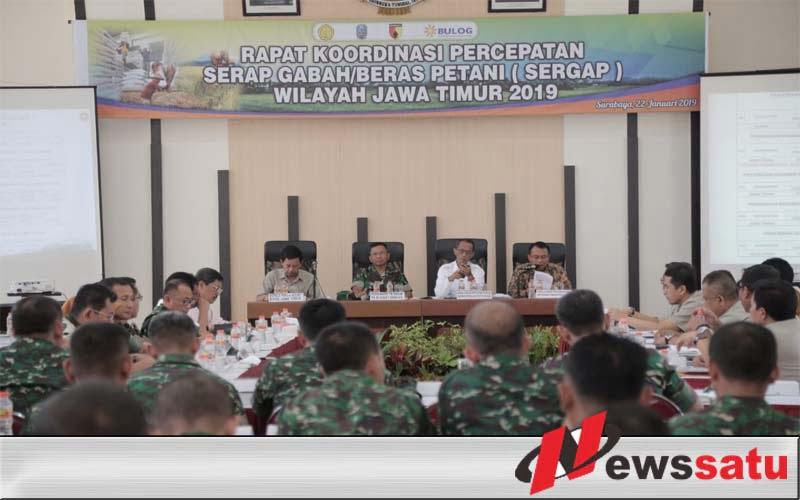 TNI AD Dukung Percepatan Serap Gabah Di Jawa Timur