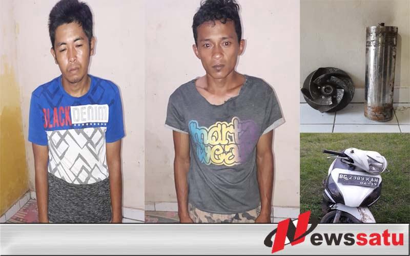 Mencuri Di Perusahaan Kertas, Dua Warga OKI Dibekuk Polisi