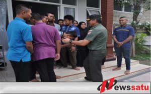 Tiba di Mojokerto, Brigjen Gathut Disambut Kepala Staf Korem 082 CPYJ