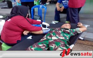 Anggota Kodim 0829 Bangkalan Laksanakan Bakti Sosial Donor Darah