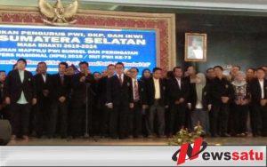 Bupati OKI Hadiri Pelantikan Pengurus PWI Sumatera Selatan