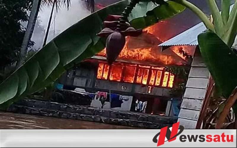 Gara-gara Tungku, Tiga Rumah Di Ogan Komering Ilir Ludes Terbakar