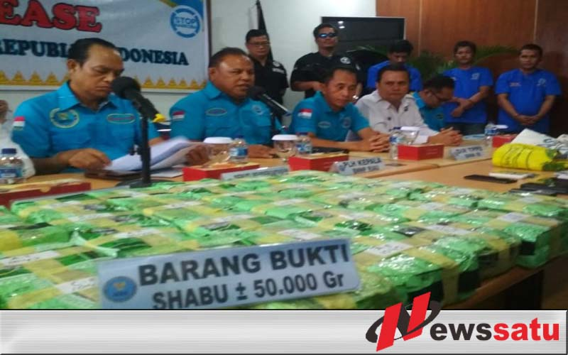 BNN Gagalkan Penyelundupan 50 Kg Narkoba Jaringan Malaysia