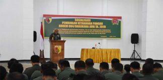 Babinsa di Wilayah Korem 084 Bhaskara Jaya Wajib Sosialisasikan Ketahanan Pangan