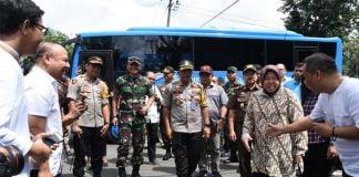 Danrem 084 Bhaskara Jaya Tinjau TPS di Surabaya