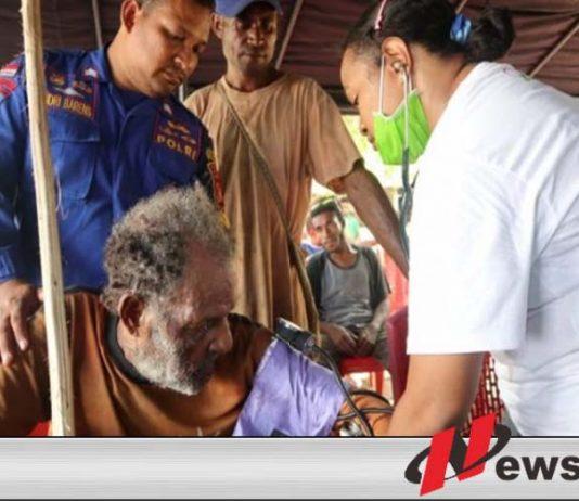 Ditpolair Polda Papua Beri Pelayanan Kesehatan Gratis