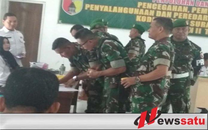 Prajurit Kodim 0831 Surabaya Timur Di Tes Urine