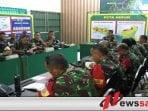 Danrem 083 Baladhika Jaya Tinjau Pelaksanaan Latihan Posko I di Banyuwangi