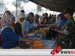 Enam Ton Beras Di Stand Bazar Korem 082 CPYJ Ludes