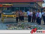 Hasil Operasi Pekat, 670 Botol Miras Dimusnahkan Polres Sumenep