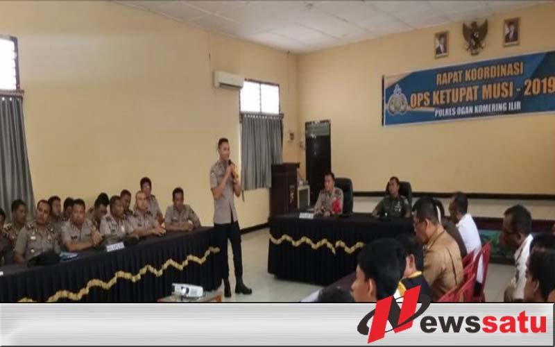 Jelang Operasi Ketupat Musi 2019, Polres OKI Gelar Rapat Koordinasi Lintas Sektoral