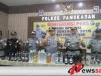 Operasi Pekat Semeru 2019, Polres Pamekasan Sita 497 Botol Miras