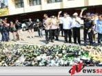 Polda Jabar Musnahkan Ribuan Botol Miras Dan Narkotika