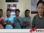 Polres Sumenep Ciduk 4 Pemuda Dan 1 Wanita Saat Pesta Sabu