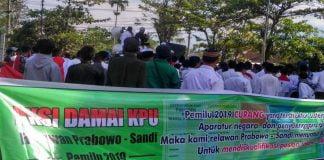 Ratusan Relawan Capres 02 Di Bondowoso Gelar Aksi Damai