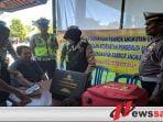 Satlantas Polres Pamekasan Periksa Kesehatan Supir Bus