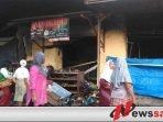 Tim Labfor Polda Jatim Olah TKP Kebakaran Di Pasar Anom Sumenep