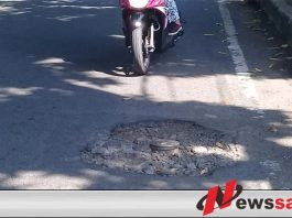 Warga Keluhkan Jalan Berlubang di Kota Probolinggo