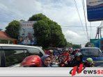 Jelang Hari Raya Idul Fitri, Jalan Mukhtar Saleh Terjadi Macet