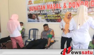 Polres Buru Gelar Donor Darah