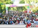 Warga Kota Probolinggo Tolak Kerusuhan Dengan Color Run