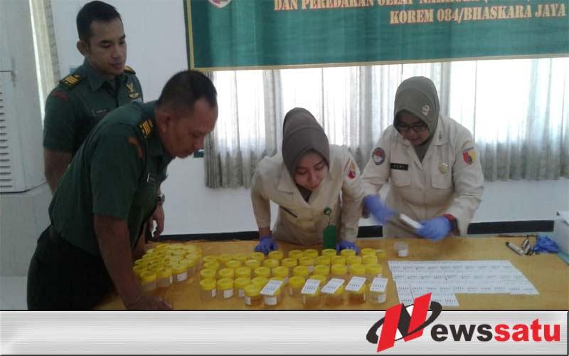 Prajurit Korem 084 Bhaskara Jaya Di Tes Urine