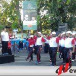 Gerak Jalan Tenaga Pendidik Dengan Tema Perjuangan Di Probolinggo