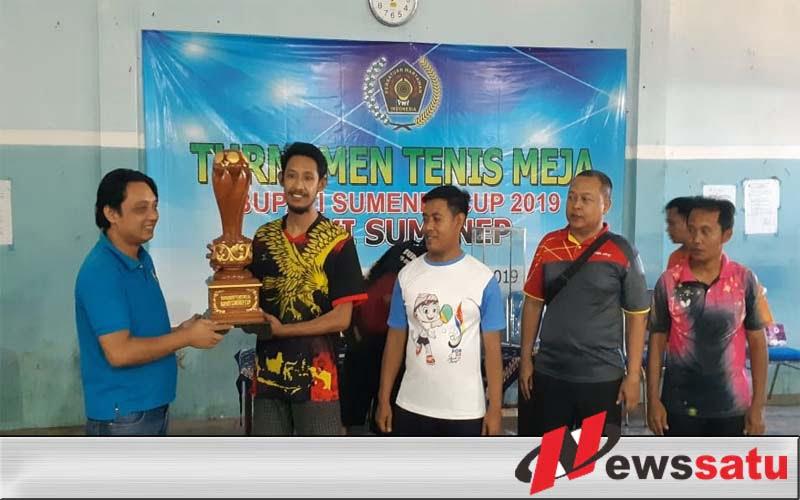PWI Sumenep Gelar Turnamen Tenis Meja Piala Bupati Cup 2019