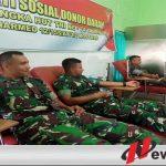 Donor Darah Warnai Peringatan HUT TNI Ke 74 Di Yonarmed 12 Divif 2 Kostrad