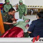 Sambut HUT TNI Ke-74, Korem 082 CPYJ Donor Darah
