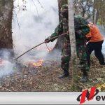 Tim Gabungan Terus Berupaya Padamkan Api Di Lereng Gunung Raung