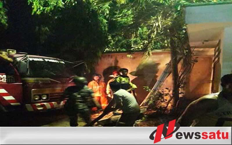 Warga Probolinggo Digegerkan Dengan Kebakaran Pohon Bambu