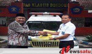 Pemkab Hibahkan Mobil Ambulance Ke Rutan Klas IIB Bondowoso