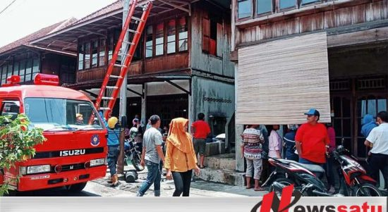 Ditinggal Melayat, Rumah Warga Mangunjaya Ogan Komering Ilir Terbakar