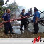 Rumah Panggung Semi Permanen Di Ogan Komering Ilir Terbakar