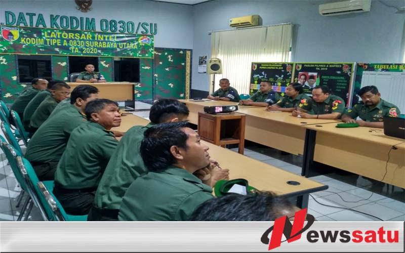 Skill Intelijen Prajurit Kodim Surabaya Utara Diuji
