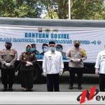 Polres Bersama Forkopimda Bondowoso Bagikan Ratusan Paket Sembako