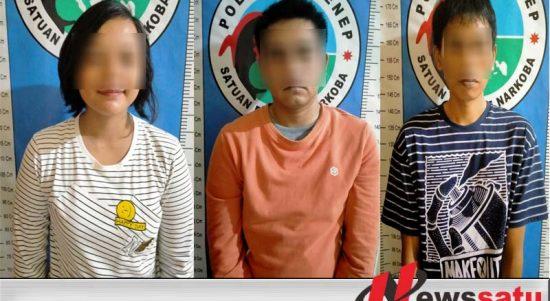 Hendak Pesta Sabu, Wanita Cantik Dan Dua Pria Ditangkap Satreskoba Polres Sumenep