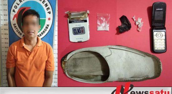 Nekat Simpan Narkoba Dalam Sepatu, Pria Ini Ditangkap Polres Sumenep