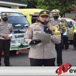 Polres Bondowoso Amankan Lima Kendaraan Mudik ke Bondowoso