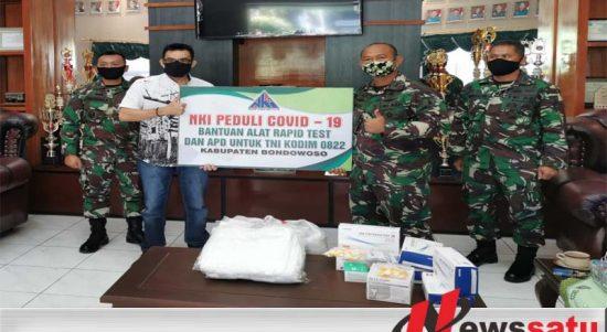 NKI Serahkan Ratusan Alat Rapid Test dan APD Ke Kodim 0822 Bondowoso