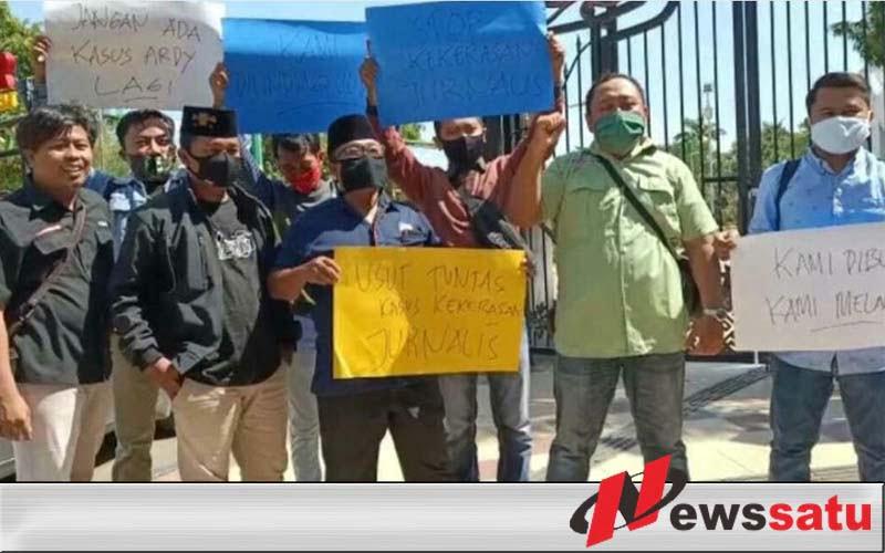 Desak Usut Kekerasan di Lampung, Jurnalis Pamekasan Gelar Aksi