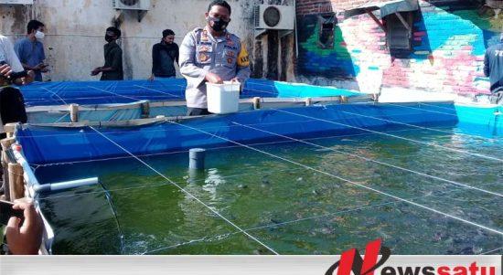 Polres Kota Probolinggo Dan Wartawan Tebar Benih Ikan