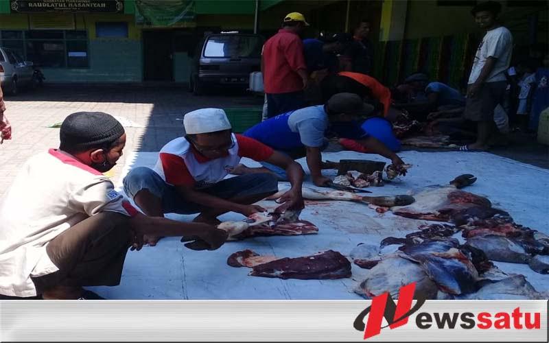 Yayasan Ponpes Raudlatul Hasaniyah Probolinggo Sembelih Hewan Kurban