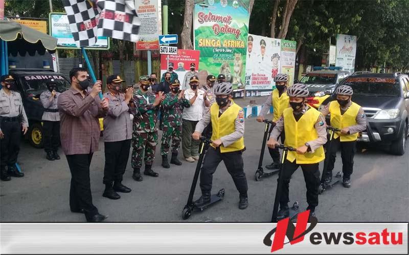 Polres Probolinggo Kota,Launching Pasukan Pemburu Pelanggar Prokes Covid 19