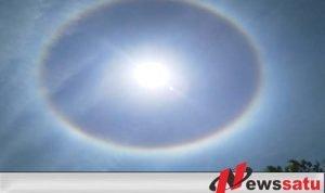 Warga Probolinggo Digegerkan Dengan Bentuk Aneh Matahari