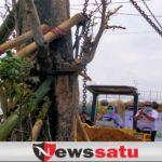 Gunakan Alat Berat, Walikota Batu Tanam Satu Nama Satu Pohon